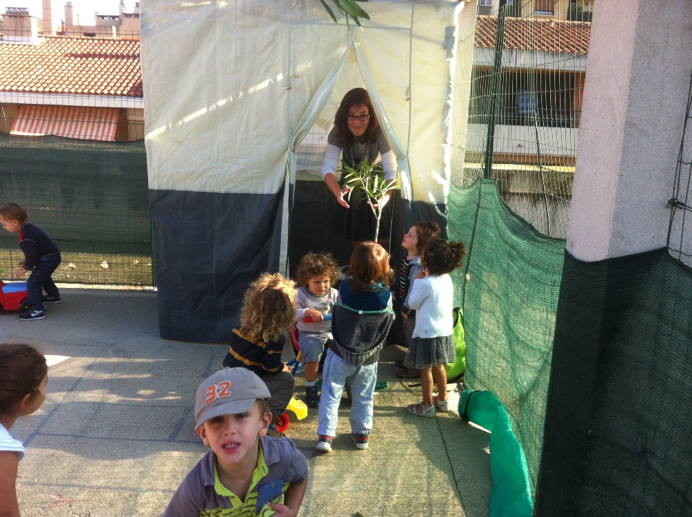 Les bébés construisant La souccah !