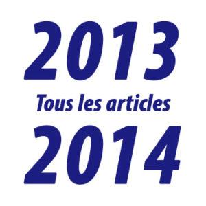 Tous les articles de l'année 2013-2014
