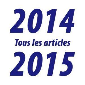 Tous les articles de l'année 2014-2015