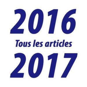 Tous les articles de l'année 2016-2017