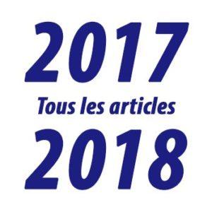 Tous les articles de l'année 2017-2018