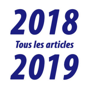 Tous les articles de l'année 2018-2019